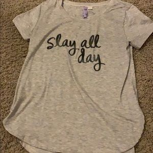 """slay all day"" top"